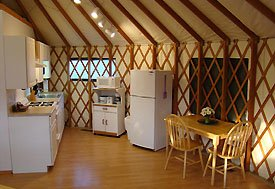 Kitchen luxury in the Deluxe Cabins